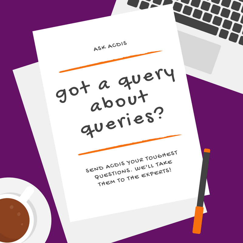 Q&A: Determining an appropriate query percentage | ACDIS